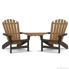 Breezesta Coastal Adirondack Chair And Tete A Table Top Set