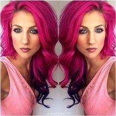 10 Tips On Crazy Hair Colours! Magenta Hair, Neon Hair, Pink Hair, Love Hair, Gorgeous Hair, Pelo Color Morado, Violett Hair, Bright Hair Colors, Hair Colours