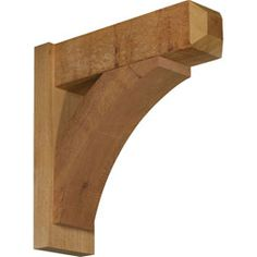 Rustic Wood Brackets Thorton Craftsman Style Smooth Solid