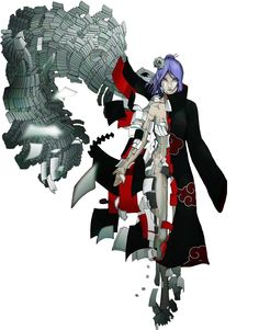 Konan (小南, Konan) was a kunoichi from Amegakure and a member of Akatsuki. She was partnered with Nagato, and was the only member to call him by his name. After Nagato's death, she defected from the organisation and became the leader of Amegakure before her own death.