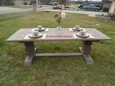 Ordinaire This Is Our Rustic Trestle Dining Table. It Has Become One Of Our Best  Sellers. This Piece Is A Knockoff Of A Table Made By A Large Furniture  Company.