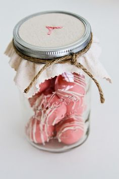 Cake bites... Cake pops in a jar without the stick. Perfect for cookie exchanges