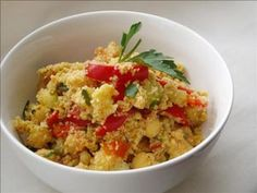 Couscous with vegetables and Tahini sauce:  Delicious Berber dish