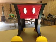 Hey, I found this really awesome Etsy listing at https://www.etsy.com/listing/194642394/mickey-mouse-style-nightstand-or-end
