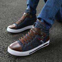 Canvas Zip High-Top Sneakers from #YesStyle <3 MARTUCCI YesStyle.com
