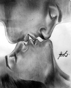 Passion by black-apple on DeviantArt dessin amour ssik_kiss by soooty on DeviantArt Pencil Drawings Of Love, Couple Drawings, Drawing Sketches, Art Drawings, Drawing Lips, Sketches Of Love, Love Illustration, Couple Art, Art Auction