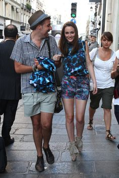 Leighton Meester Takes a Break From Filming