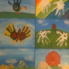 6 different pieces of Handprint art...great, personal gifts from the kids