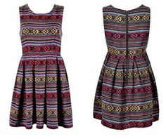 AZTEC PRINT DRESS... something you need if your going to convince taxi drivers that you're Aztec. :P