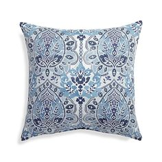 The fresh patterns and sun-kissed color of our outdoor pillow collection add standout style and plush comfort. Rhythmic scrolls and interlacing foliage in a soothing palette of Mediterranean blues grace sofas and chairs with a classic textile pattern.