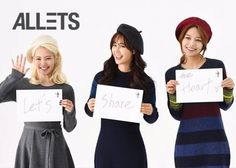 Girls' Generation's Hyoyeon, Yuri, and Sooyoung pose for 'Let's Share the Heart' campaign   allkpop.com