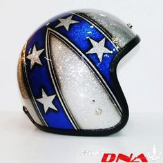 evel knievel daredavil blue white helmet