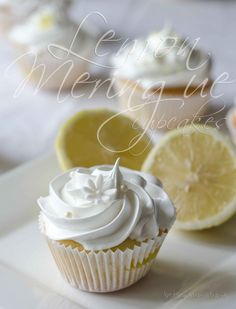 lemon meringue cupcakes - for mom