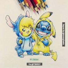 pikachu y stitch kawaii - Buscar con Google