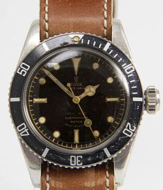 TUDOR Submariner in Gents Watches, Vintage at Worldoftime: Rare early Submariner Oyster Prince crown. Tudor Auto Prince 390 (FHF Faurié) Buy TUDOR Submariner Reference 7924 Year If you want to sell your watch, we will be happy to advise you Gents Watches, Rolex Watches, Watches For Men, Tudor Submariner, Rolex Submariner, Vintage Rolex, Vintage Watches, Tudor Monarchs, Tudor Heritage Black Bay