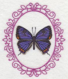 Butterfly Cameo - Colorado Hairstreak 3x3, 5x6 Machine Embroidery Designs at Embroidery Library! -