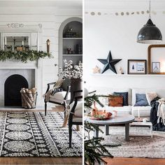 Which 'Christmas-fied' living room would you pick? ... both decorated in subtle festive ways ... left or right?