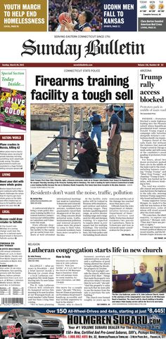 Sunday, March 20, 2016 - Subscribe to The Bulletin today: http://www.norwichbulletin.com #ctnews #newlondoncounty #windhamcounty