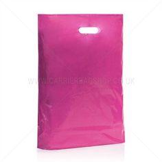 Standard Kunststofftragetaschen pink