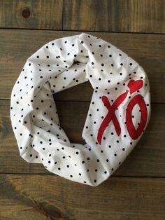Valentine XO Infinity Scarf by KutKloth on Etsy