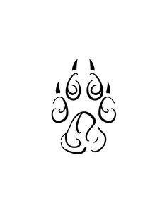 tribal dog paw tattoo - Google Search