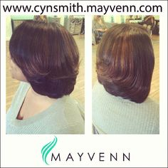 Subtle highlights and bob using Mayvenn Hair.