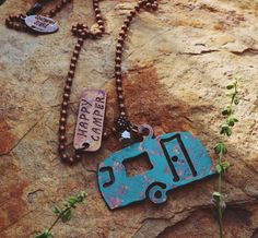 back in stock! COWGIRL Bling HAPPY CAMPER  Western COPPER TONE Boho Gypsy NECKLACE  #Unbranded #necklace