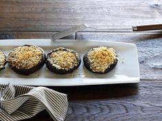 Get Mozzarella Stuffed Portobellos Recipe from Food Network
