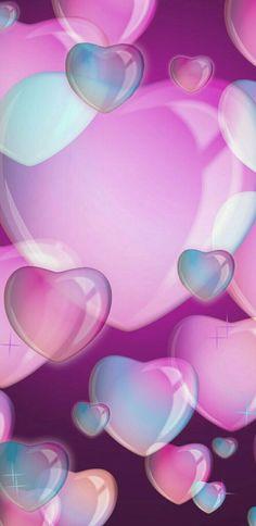 Wallpaper... By Artist Unknown... Pink Wallpaper Heart, Blue Floral Wallpaper, Love Wallpaper Backgrounds, Wallpaper Iphone Love, Animal Print Wallpaper, Flower Phone Wallpaper, Cellphone Wallpaper, Pretty Wallpapers, Wall Paper Phone