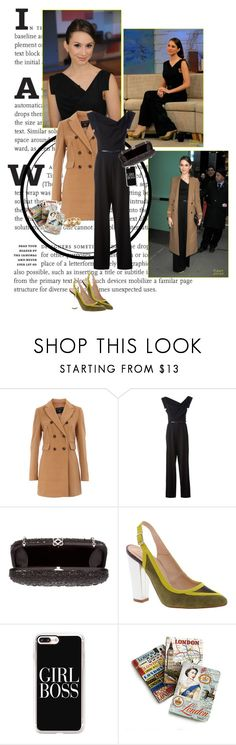 """troian"" by glitterinmybrain ❤ liked on Polyvore featuring Dorothy Perkins, Black Halo, Oscar de la Renta, Antipodium, Casetify, Tory Burch, pll, Stealherstyle and TroianBelissario"