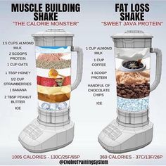 🔥 MUSCLE BUILDING vs FAT LOSS 🔥 ⠀ I touched on Protein Shakes in a post last week, but this is a really great visual by showing just how…