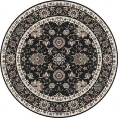 Shop the Traditional Border Rug - Color: Black, Linen; Size: Round by Art Carpet. Made from Better Quality Polypropylene in Turkey. This Machine Woven Black, Linen rug has a pile_height, perfect for a soft yet durable addition to your home. Floral Area Rugs, Teal Area Rug, White Area Rug, Beige Area Rugs, Border Rugs, Cheap Carpet Runners, Carpet Colors, Red Carpet, Round Area Rugs