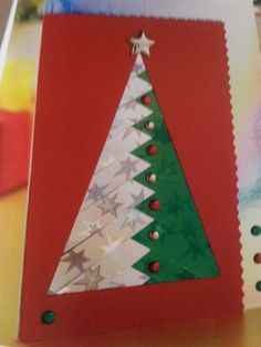 Iris folding Christmas tree card