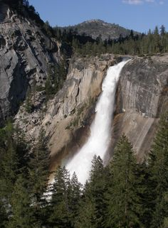 Nevada Fall in Yosemite--I hiked the John Muir Trail from Curry Village to Nevada Fall in 2012.  Amazing views along the way!