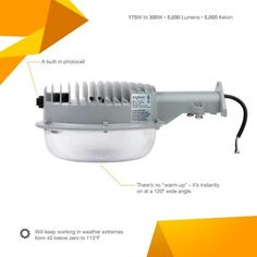 Brightech – LightPRO LED Yard Light – Brightest & Most Cost-Effective Security Light on the Market – 56 Watts – Dusk to Dawn Photocell Outdoor LED Wall Mount Barn Light & Area Lighting Floodlight Barn Lighting, Lighting System, Led Street Lights, Dusk To Dawn, Light Sensor, Landscape Lighting, Outdoor Storage, Storage Spaces, Wall Mount