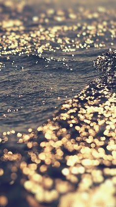 Get Wallpaper: http://goo.gl/7aa27Y mf40-gold-sea-water-sunset-ocean via http://iPhone6papers.com - Wallpapers for iPhone6 & plus