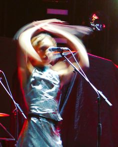 photo by miGUEL HERRANZ via Instagram @miguelherranz_design > Music is in the arms Isabel Munoz-Newsome PUMAROSA | Depeche Mode Madrid concert | Wizink Center | motion capture | silver dress | singer | photography | taken by me | Panasonic Lumix TZ100 | 2017 tour | Spain