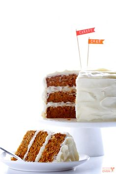 """The Best Carrot Cake Ever"" (I love it when a recipe calls itself the 'best ever.' The pic sure is pretty though.)"