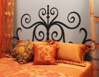 """WallSpirit - Wall Decals, Decor and Tattoos - best sellers.  I like this for a """"headboard""""; could at least use it until I decide on another DIY headboard!"""
