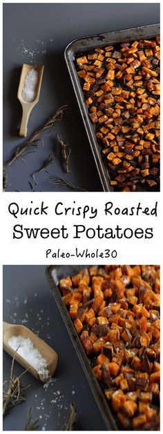 These quick crispy roasted sweet potatoes are honestly one of our go-to recipes for breakfast, lunch or dinner! You can never have enough crispy sweet potatoes in the house, at least ours! What I love about this recipe is that it is super fast to whip up and oh so satisfying. Like I could lock myself in …