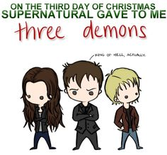 supernatural 12 days of christmas | 12 Days of Christmas - SPN Style - Supernatural Fan Art (18764430 ...