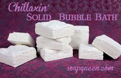 DIY: Solid Bubble Bath Recipe and Tutorial...this would be very portable for traveling, I love this idea!