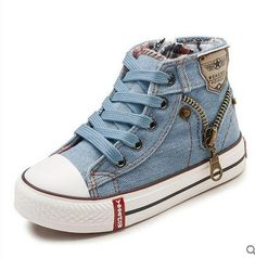 Kid Canvas Children Shoes Sport Breathable Boys Sneakers Brand Kids Shoes for Girls Jeans Denim Casual Child Flat Girls Sneakers - Denim Sneakers, Cheap Sneakers, Girls Sneakers, Girls Shoes, High Top Sneakers, Canvas Sneakers, Denim Converse, Converse Style, Toddler Sneakers