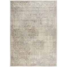 Nourison Graphic Illusions Beige Antique Damask Pattern Rug (10'10 x 7'9) kjøpe her!!!