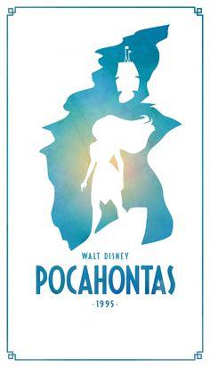 Pocahontas Classic Disney Movie Posters - Created by Keith Bogan Disney Magic, Disney Pixar, Pocahontas Disney, Walt Disney, Disney Amor, Disney And Dreamworks, Disney Animation, Disney Love, Animation Movies