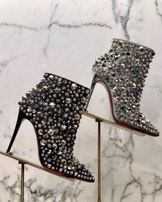 7897ce45b2f77d Christian Louboutin So Full Kate Glitter Ankle Boots