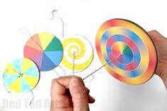 DIY Paper Spinner Toys