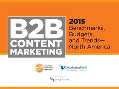 B2B Content Marketing 2015 Benchmarks, Budgets & Trends - North America    * * * * * | Excellent example.