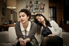 Ilana and Abbi of Broad City. I wish I could be friends with these ridiculously hilarious girls!! These bitches be killin' in on Broad City.