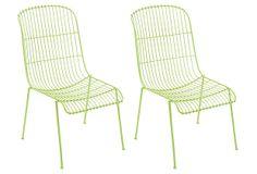 Green Milly Chair, Set of 4 on OneKingsLane.com
